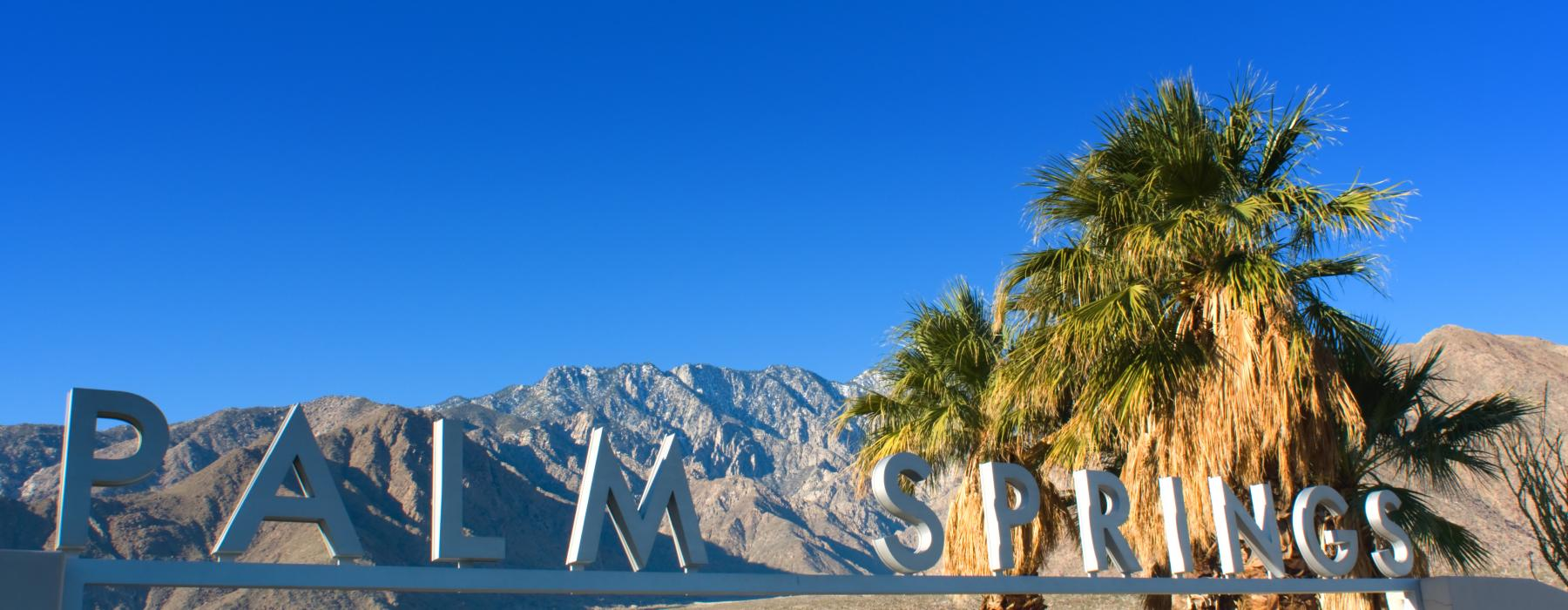 Palm Springs Sign in Palm Spring California USA By Byron Moore